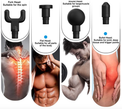 Deep Tissue Massager Hand Held Vibration Massage Device for Muscle Pain Soreness