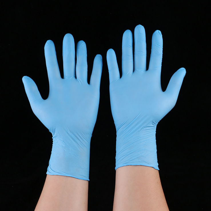 Safe Disposable medical nitrile gloves Vinyl Latex Examination Medical Gloves