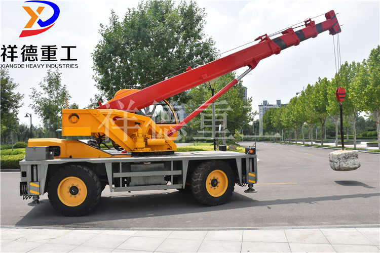 Sell 12t Walking Crane Four - Wheel Drive Cross-Country Manufacturers for Direct Supply Cross-Country Tyre Crane