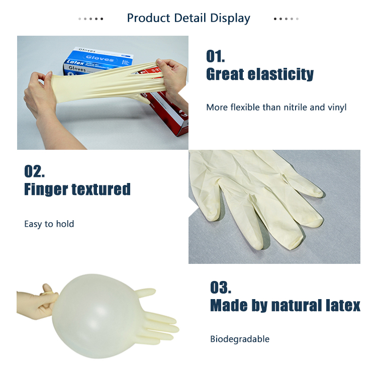 Wholesale cheap price latex powdered surgical medical examination gloves