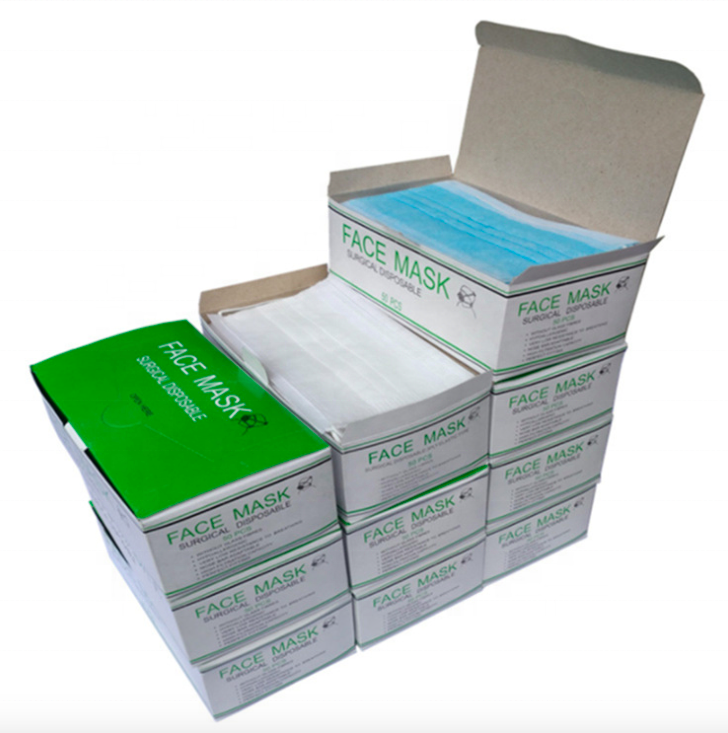 Custom Print Medical Disposable Face Surgical Mask Packaging Box