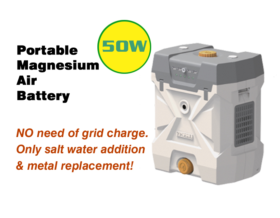 50W Portable Power Source, Emergency Charging & Power Supply, Salt Water Activated Battery