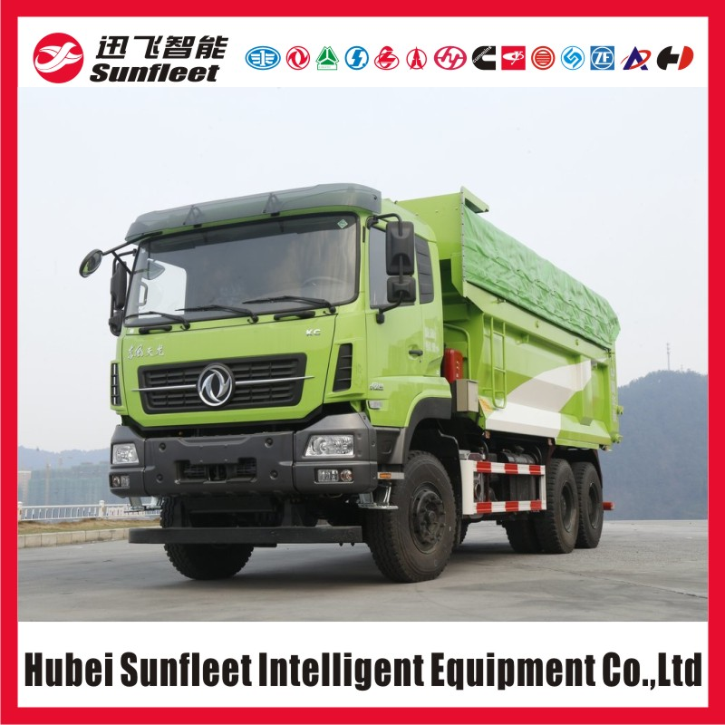 Dongfeng KC Series 10 Wheel Tipper, 6x4 Dump Truck, Eu5, Eu4, Eu3 Emission Option, 20cbm Cargobox, Hydraulic Front Lift