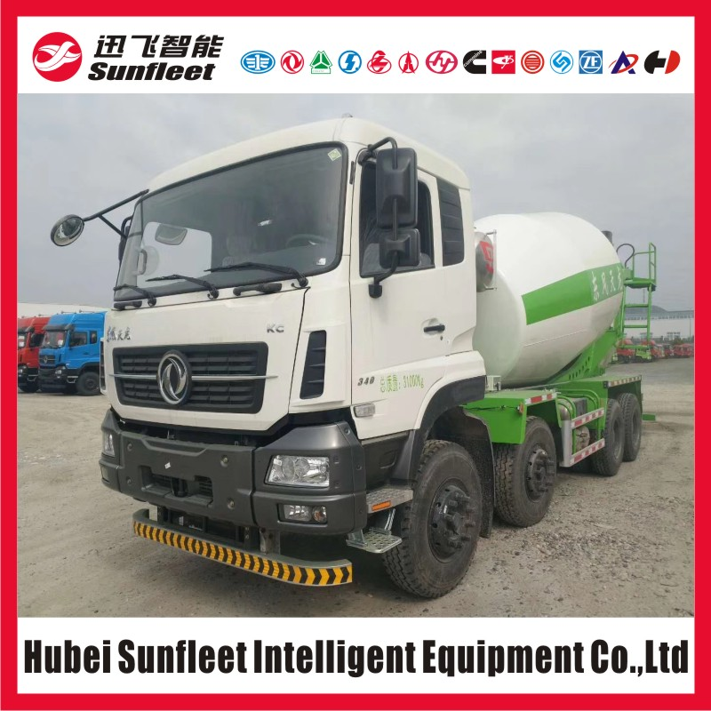 Dongfeng KC Series 12 Wheel Mixer Truck, 12cbm Mixing Drum, 8x4 Truck Cement Mixer, Famous Brand Hydraulic System