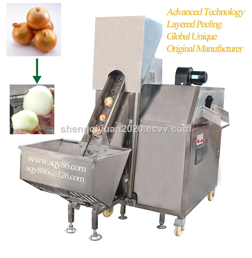 Automatic Onion Skin Peeling Machine