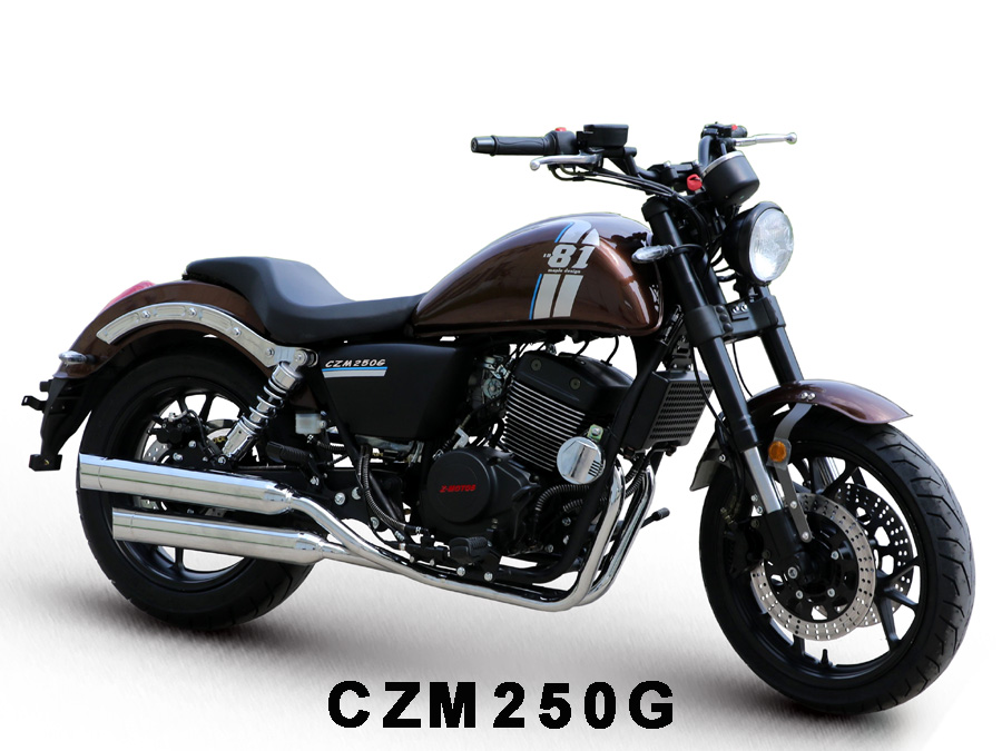 Supply Cruiser Motorcycle CZM250G with 250cc - 400cc Engines