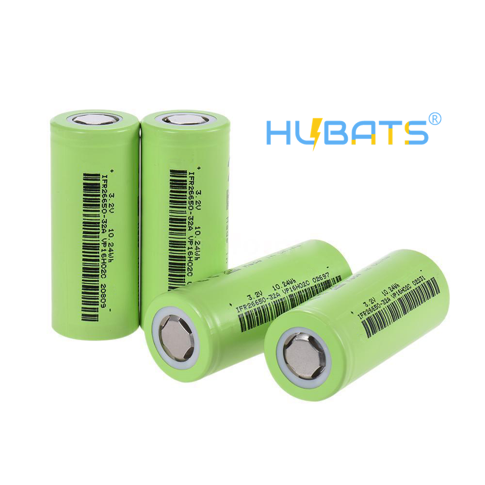 Hubats Ifr 26650 3200mAh 30A 3.2V LIFEPO4 Rechargeable Battery