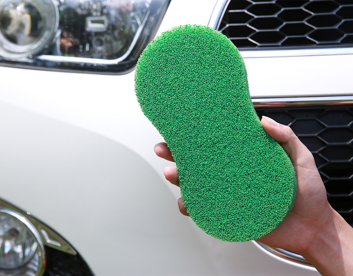 Customized Size Color 8 Shape Car Cleaning Silicone Sponge Customized Size Color