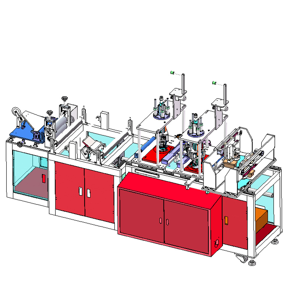 Full automatic laser medical mask making machine auto N95 face mask production line highspeed N95 masks forming machine