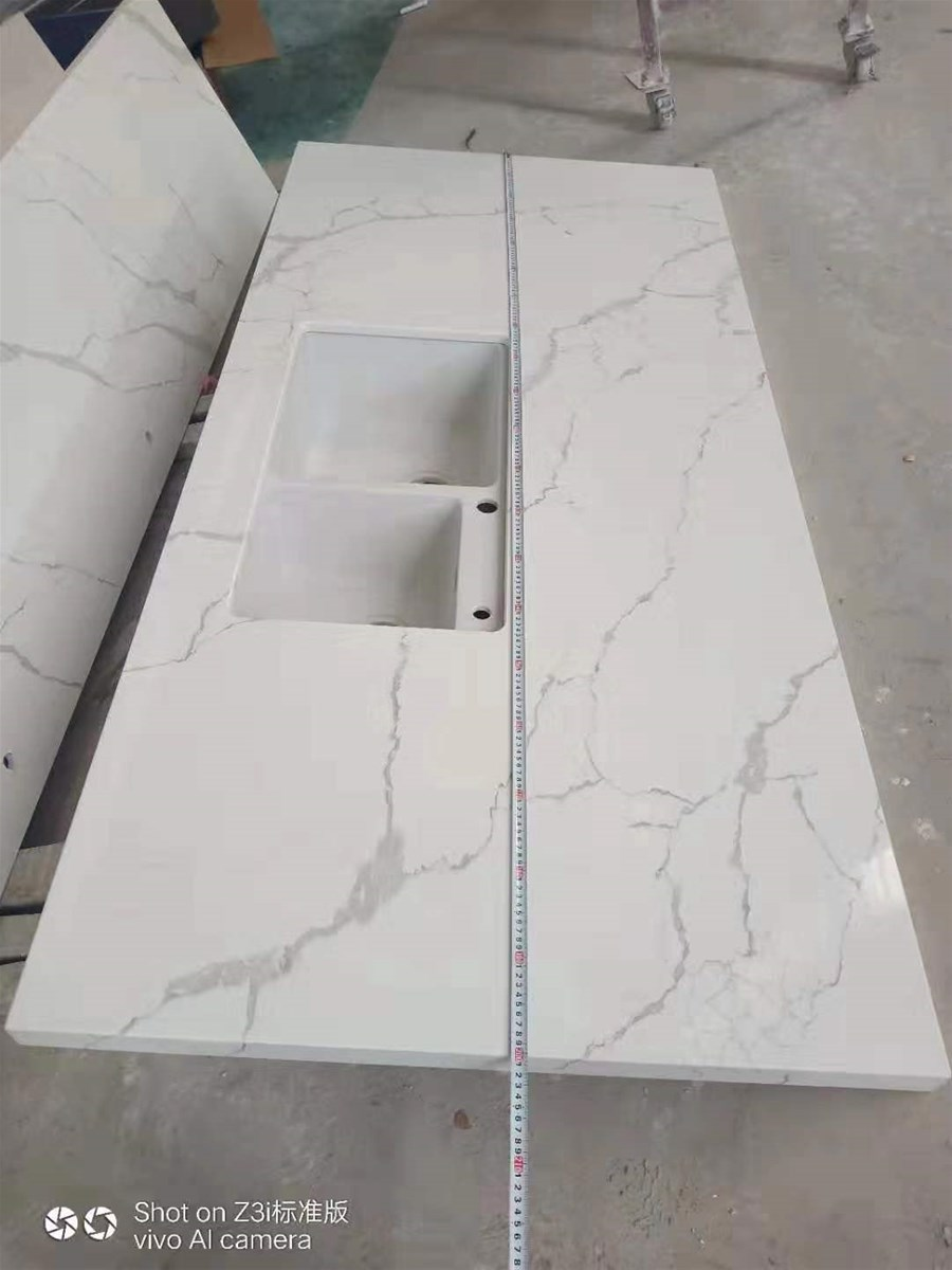 New Arrived Artificial White Marble Counter-Top for Home, Hotel