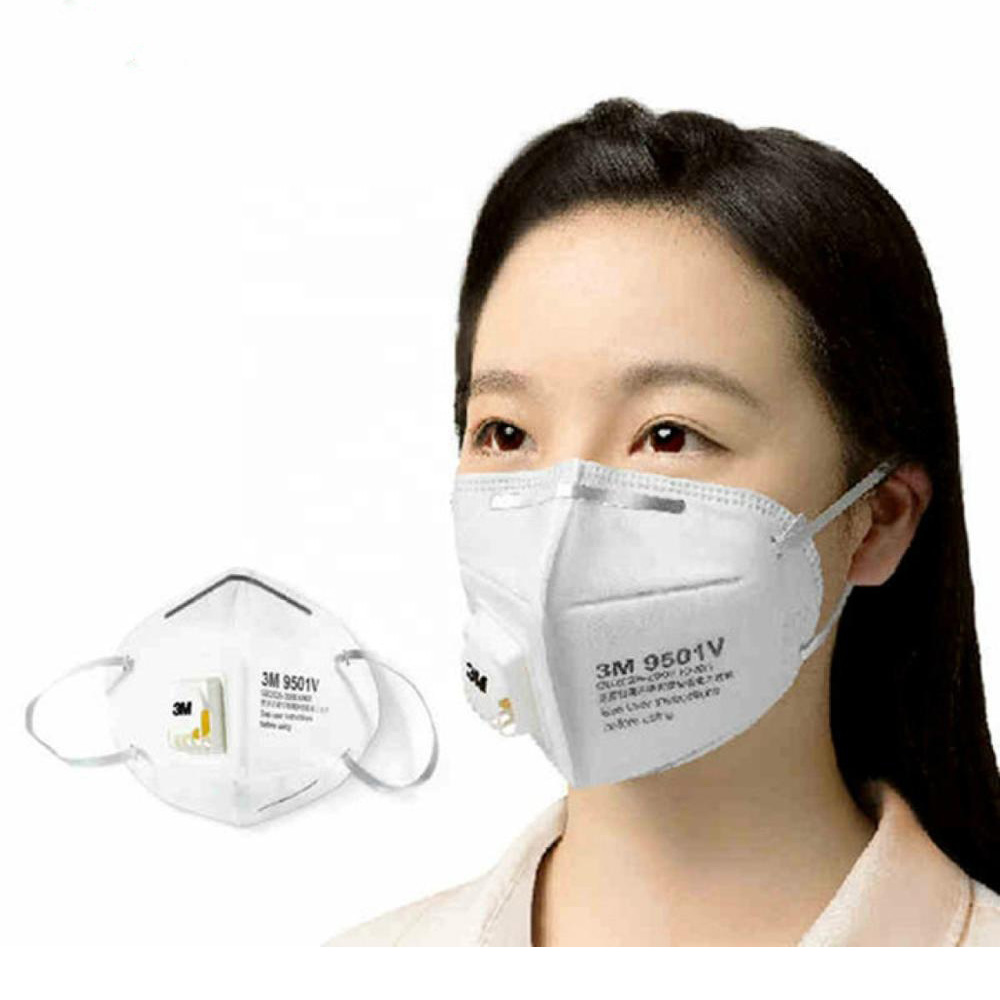 3M 9501V N95 Disposable Surgical Face Mask 25pcs/Box with Filters Respirator Breathing Valve Medical Masks N95 Mask