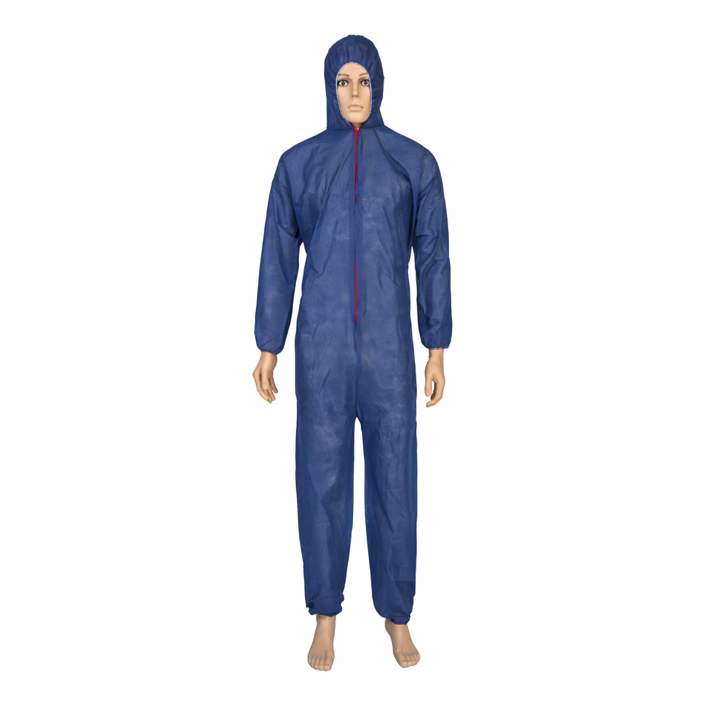 CE Medical Working Clothing Cheap Waterproof Insulated Workwear Polypropylene Safety Disposable Coverall Suit