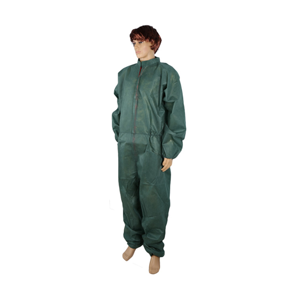 Disposable Protective Coverall Suit, Adult Full Body Protective & Contamination Non-Woven Clothing Isolation Suit