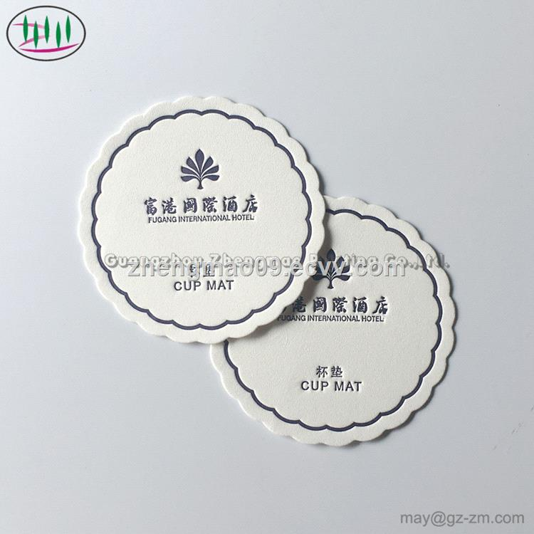 Customizable Multi-Style Hotel Supplier Disposable Paper Coasters Insulated Coasters