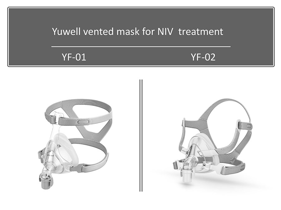 Yuwell YH830 CE certification automatic ventilator with mobile CPAP Bilevel home with intelligent noninvasive