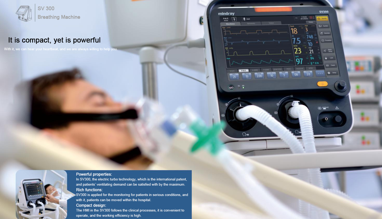 MINDRAY SV300 Portable Breathing Apparatus Auto CPAP ventilator