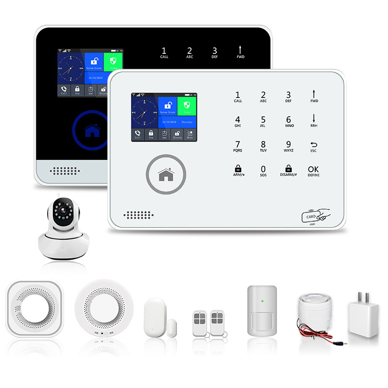 Home Security Alarm System Smart Home IOS Android App 88 Wireless Zone 8 Language Anti Burglar