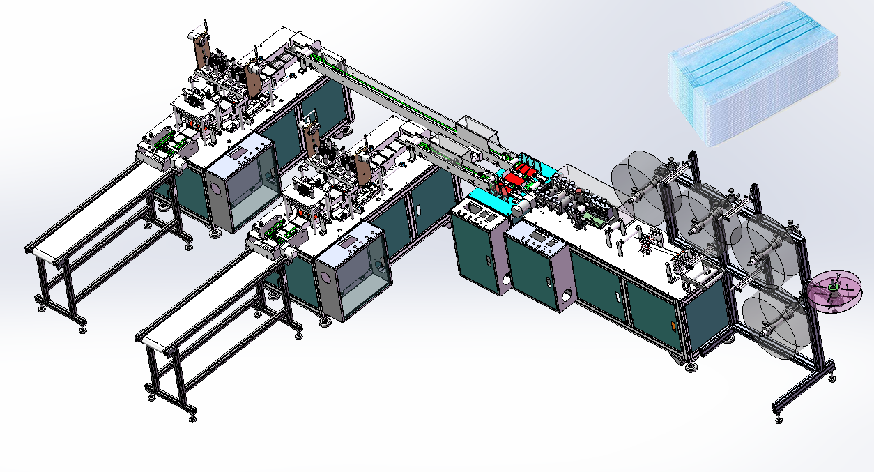 Haitel- Automatic Mask Machine Production Line-One for Two