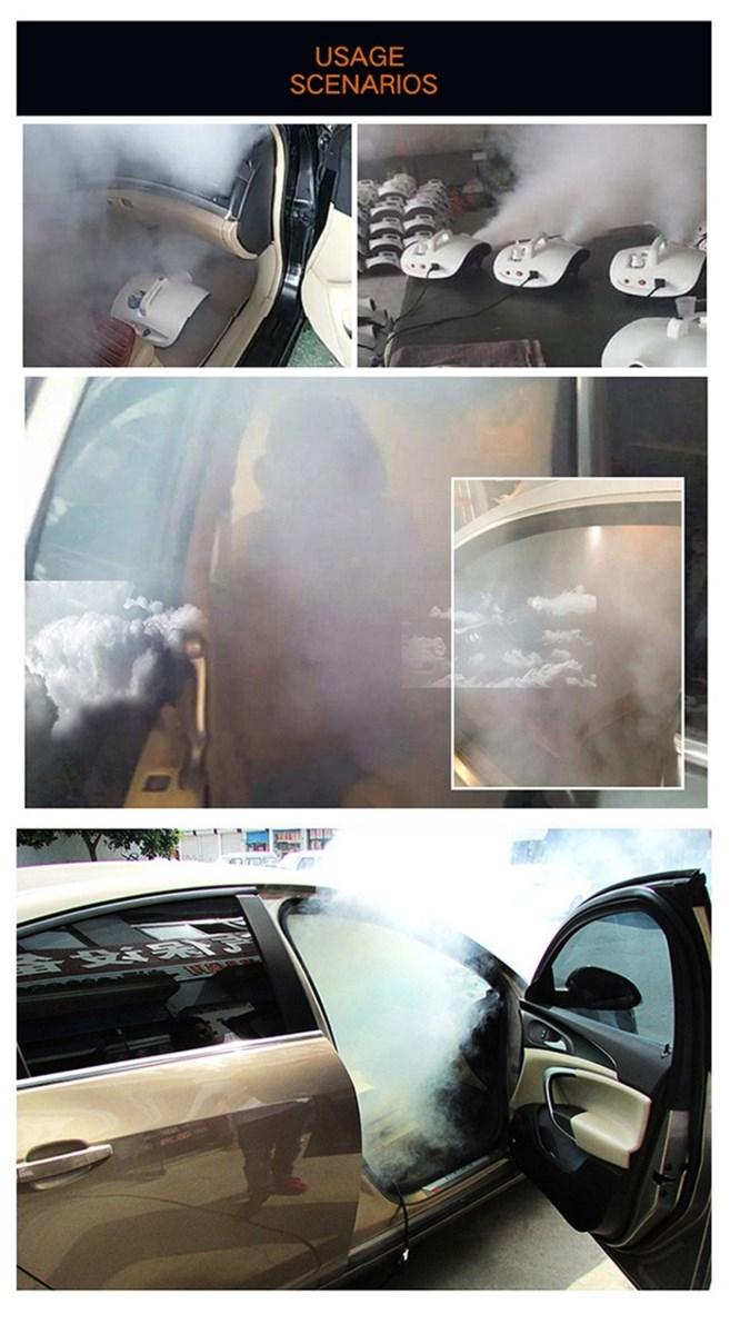 Indoor 900w mini disinfection sterilization machine Car smoke fogging sanitizer machine sprayer for Room Office