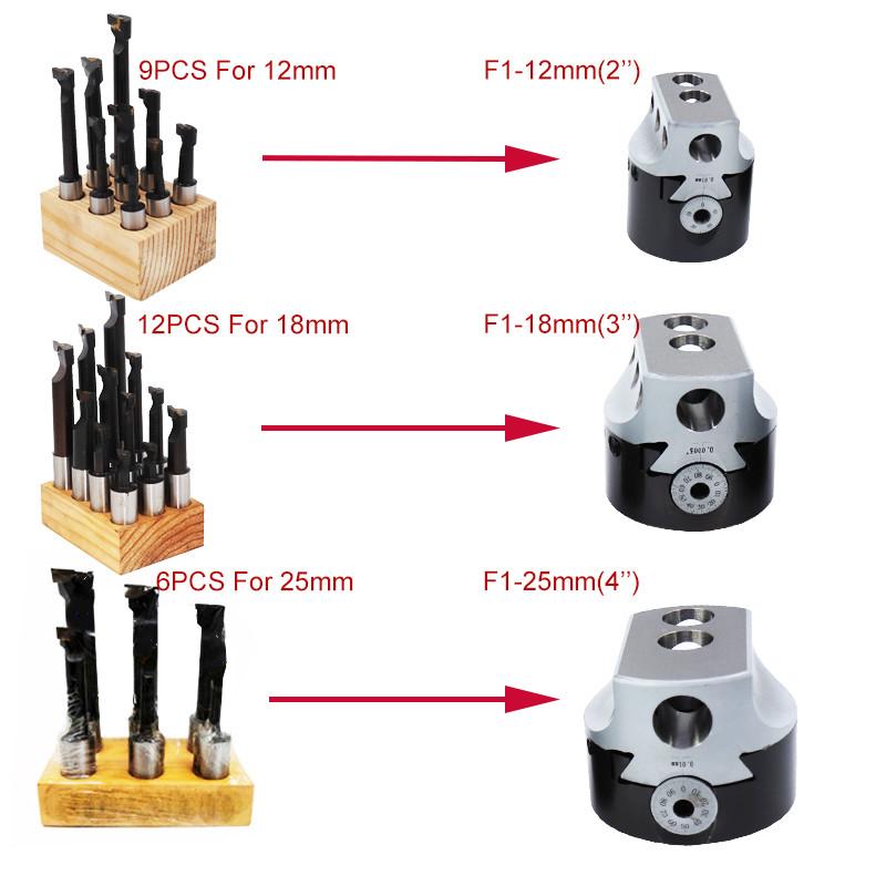 F112mm9PCS Lathe boring bar Hard Alloy Shank Set Carbide Tipped Bars For Milling Tool Holder
