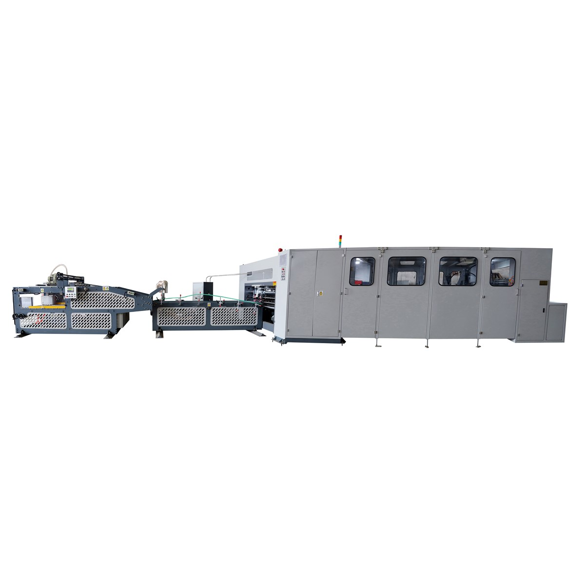 Automatic Straight Line Corrugated Box Folder Stitcher Machine