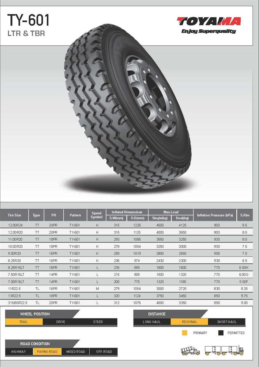 Truck Tyre TBR TOYAMA TYRES