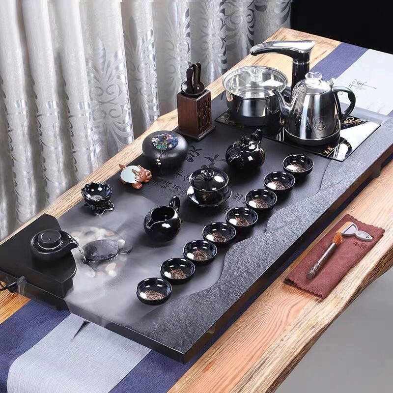 Household Simple Living Room Automatic Atomization Water Tea Table Wujinshi Tea Tray Set