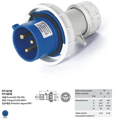 Cee 16a 32a 63 250 220v 400v 440v Multiple Male Female Amp Single Phase Ip67 Waterproof Industrial Plug And Socket Pdu 3