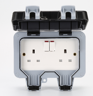IP66 13A Outside Use Waterproof Outdoor Storm Switched Single Socket Box