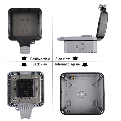 Supply And Production Of High Quality BG Series IP66 13A Double Cable Waterproof Wiring Switch Box