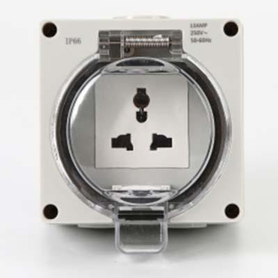 HTL661 Muti Function Waterproof Switch Socket Outdoor Plastic Enclosure Box