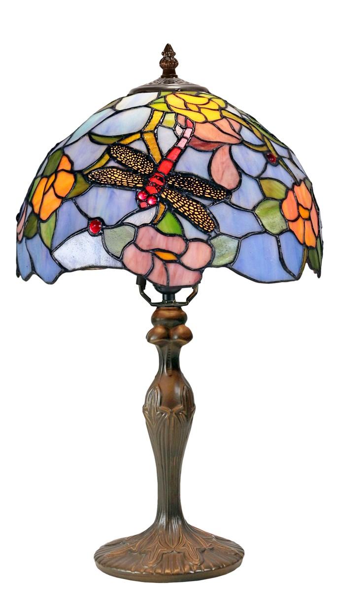 Tiffany lamp 12 Diameter table lamp wmetal baseNG121294311CB