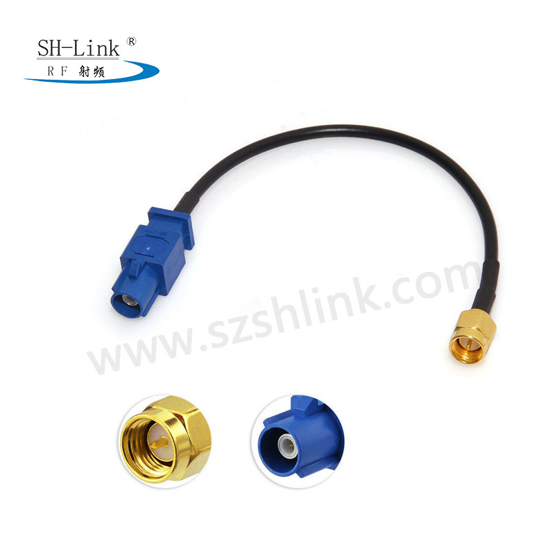Fakra Male to SMA Male Connector with RG316 Cable Assembly