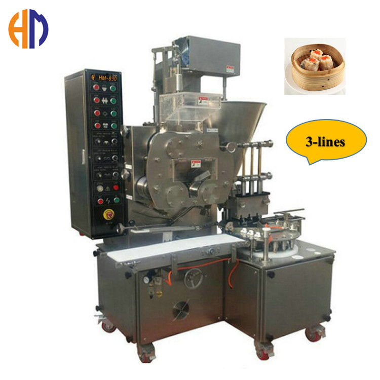High Capacity 7000-9000pcs/Hr Three Lines Automatic Siomai Making Machine In the Philippines