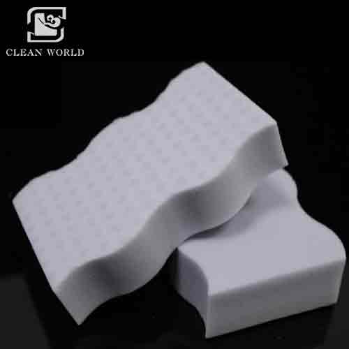 Hot Selling Wave Shaped Eco-Friendly Kitchen Cleaning Melamine Foam Sponges