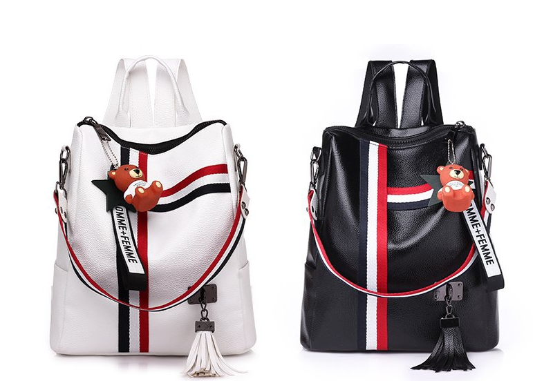 the New Ribbon Pendant Explosion Dual-Purpose Backpack