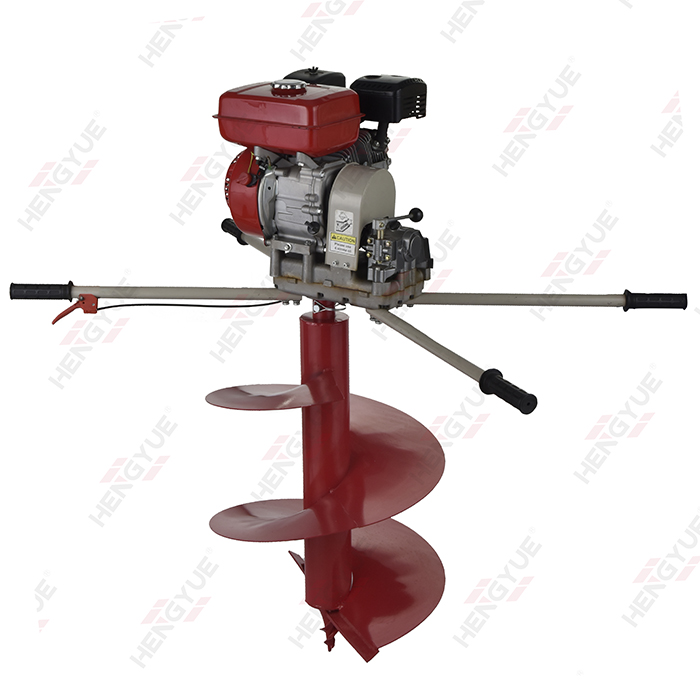 2 Persons Operate EARTH AUGER MACHINE
