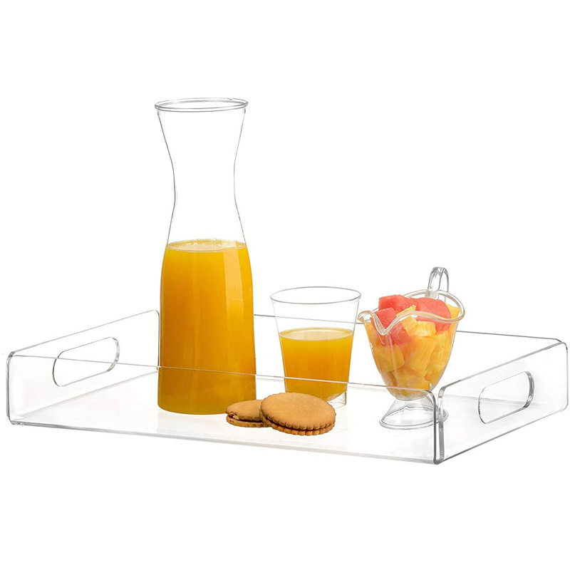 Top Quality Custom Clear Acrylic Plexigalss Display Tray Serving
