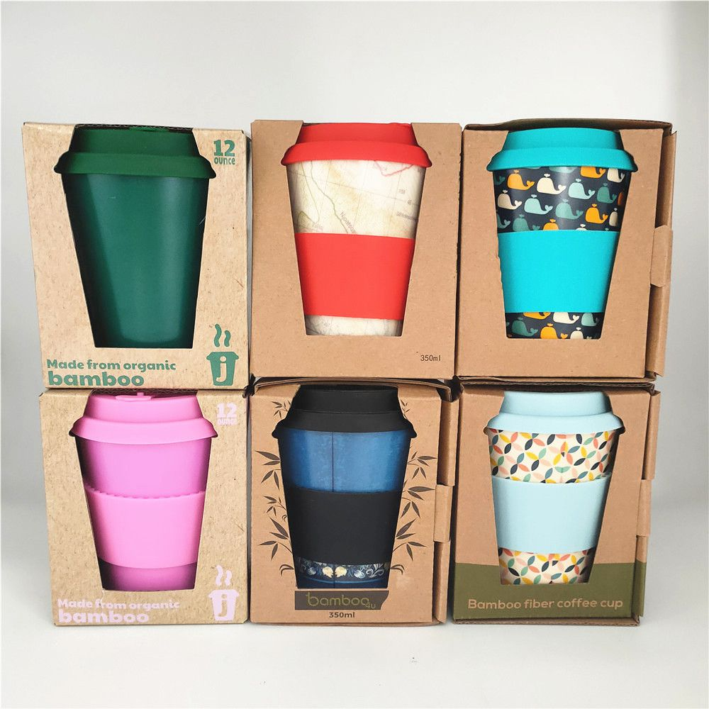 Eco Friendly 100% Biodegradable Bamboo Fiber Coffee Cup Custom Logo