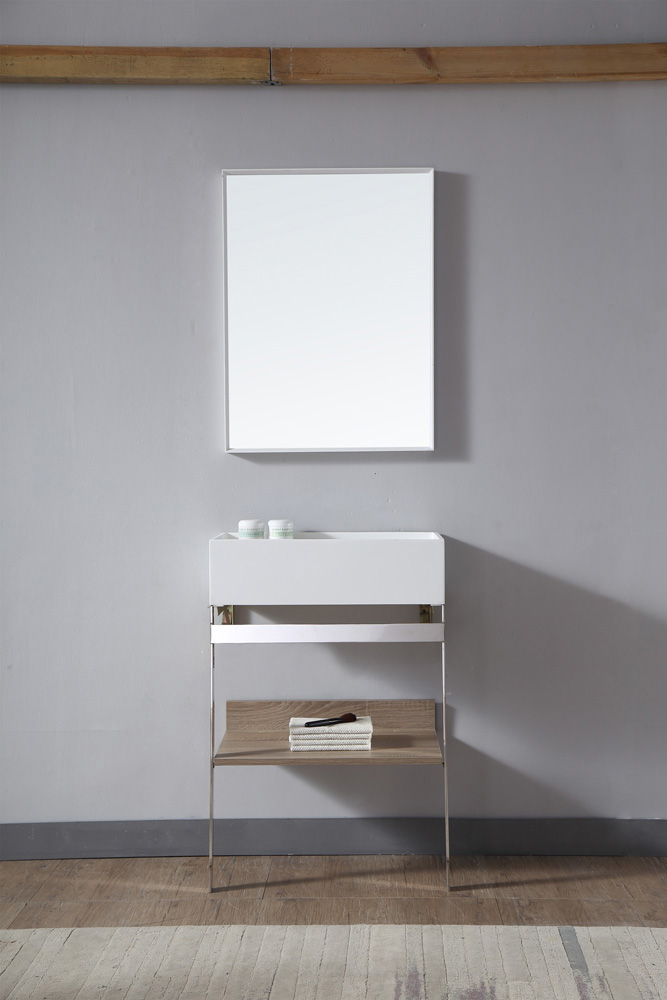 China Floor Artificial Stone Bathroom Cabinets with Mirror High-End Bathroom Vanity TW-2030