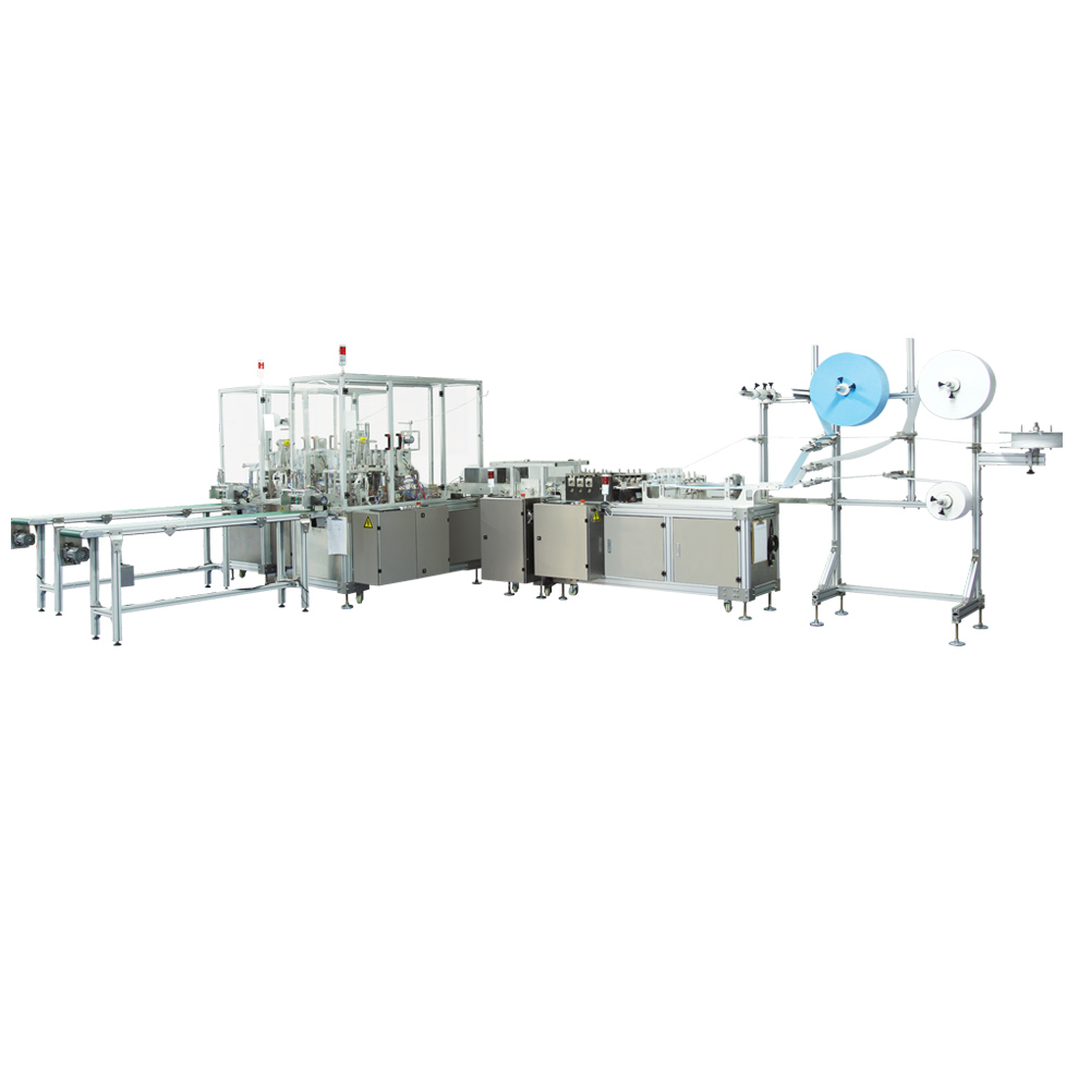 High-Speed Flat Earband Mask Full Automatic Production Line Mask Making Machine