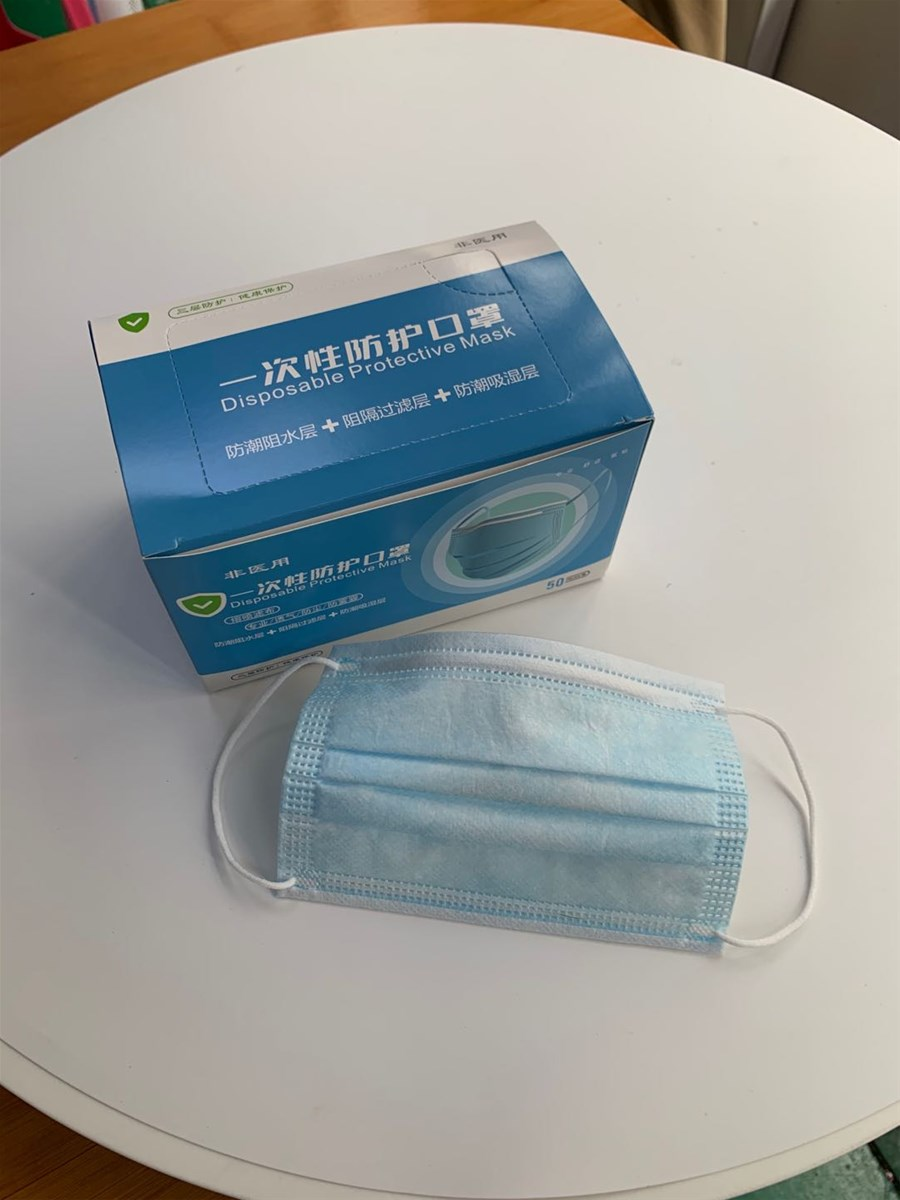 Wholesale 3 Ply Disposable Earloop Face Mask with High Quality