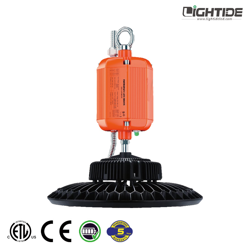 Lightide Battery Operated LED High Bay Lights Emergency Backup, 150W, 5 Years Warranty