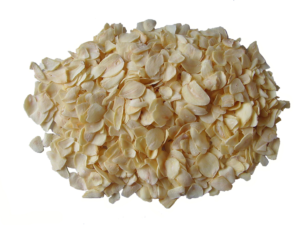 Natural Air Dry Garlic Flakes Dried Garlic Granules Dehydrated Pure White Organic Powder