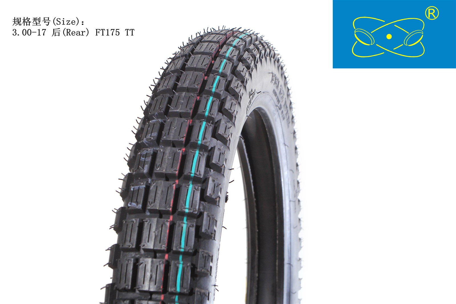 FT-175 (3.00-17) Natural Rubber Motorcycle Tire