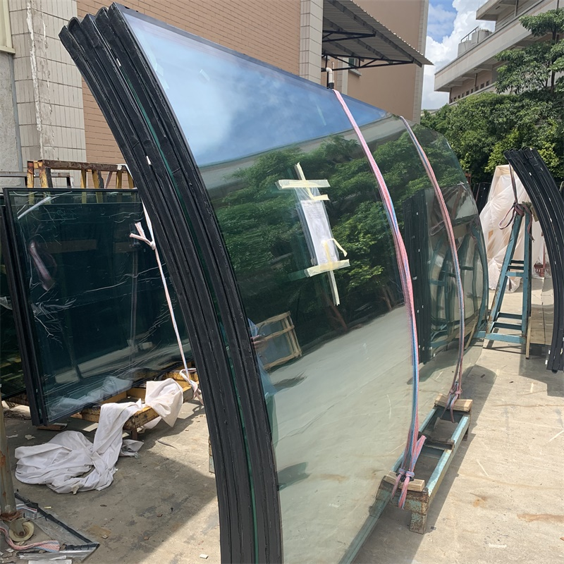 6mm+9A+6mm Clear Curved Tempered Insulated Glass