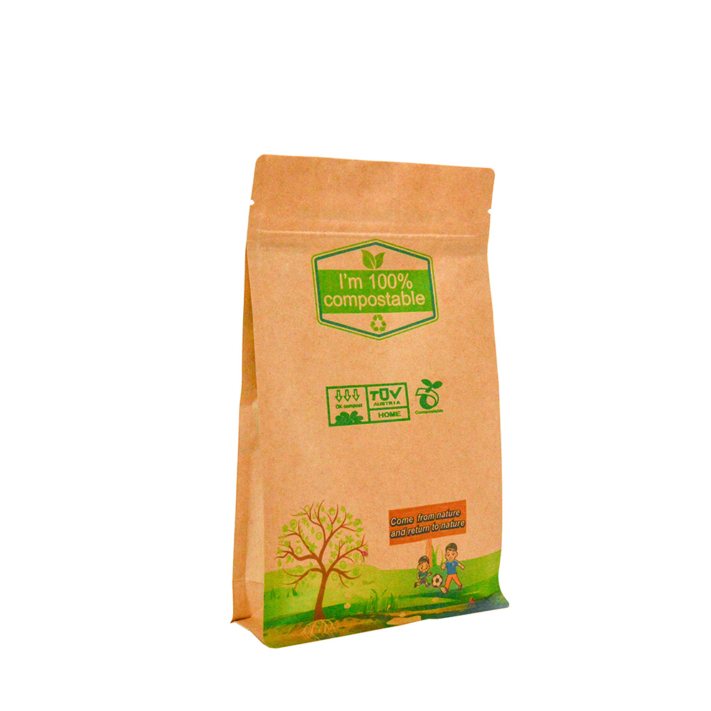 Compostable Bags 100% Biodegradable Packaging Paper Food Packaging with Window