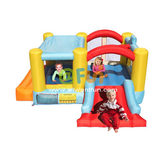 Wholesale Durable PVC Inflatable Trampoline Bouncer House with Slide Inflatable Jumping Castle for Children