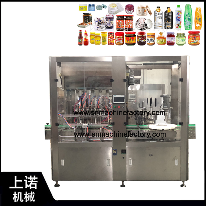 Top Selling Tomato Paste Sauce Filling Machine Jar Jam Filling Machine from High Quality Factory