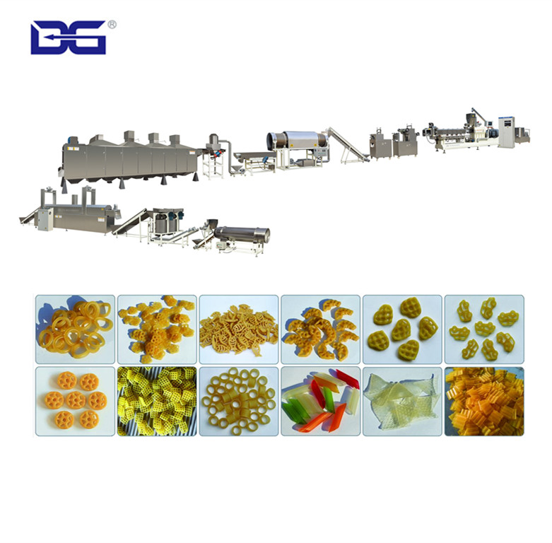 2d 3d Pellet Fryums Production Line Food Extruder